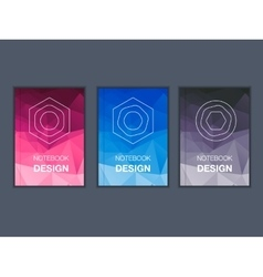 Colorful brochure title sheet set vector