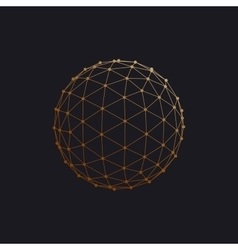 3d sphere with global line connections vector
