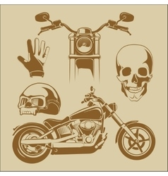 Elements for biker labels vector