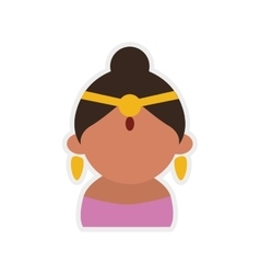 Cartoon woman icon indian culture design vector
