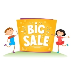 Big sale poster for school theme vector image vector image