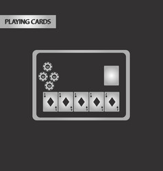 Black and white style poker board card vector