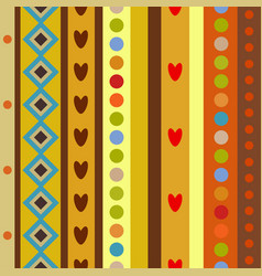 bright colorful seamless shapes pattern vector image