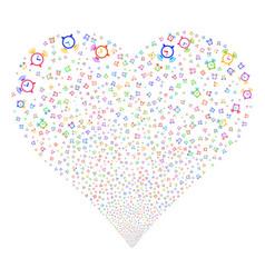 Buzzer fireworks heart vector