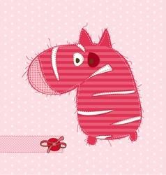cartoon pink zebra vector image vector image