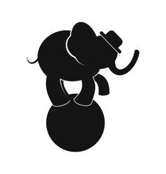 Circus elephant on ball simple icon vector image