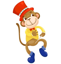 circus monkey vector image vector image