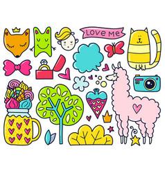 Color doodles vector