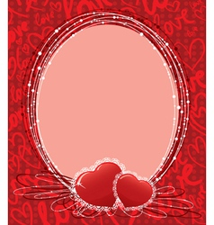 Cute valentines border vector