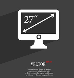 Diagonal of the monitor 27 inches icon symbol flat vector