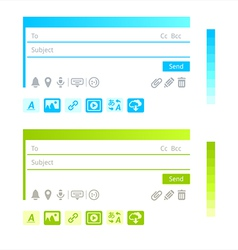 Email infographics vector image vector image