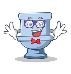 geek toilet character cartoon style vector image vector image