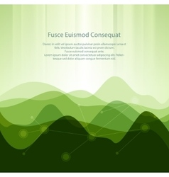 Green Abstract Background from Waves vector image