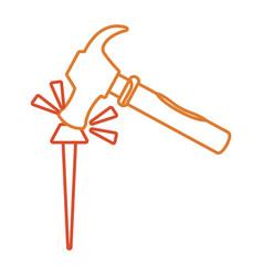 Iron nail vector