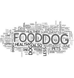 is your dog malnourished text background word vector image vector image