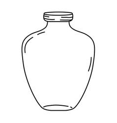 Line middle mason jar preserve style vector