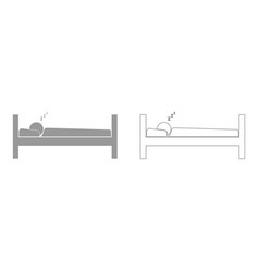 Man sleeping set icon vector