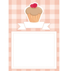 Menu wedding card or baby shower invitation vector image vector image