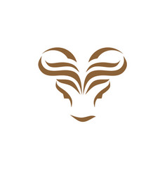 Modern bull head creative abstract logo concept vector