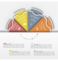 Modern business infographics circle layout vector