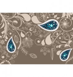 paisley frame vector image vector image