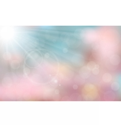 Pink and blue spring background vector image vector image