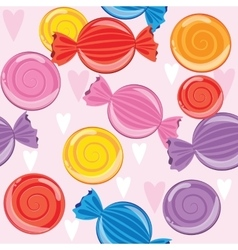 Set candies of different colors texture vector