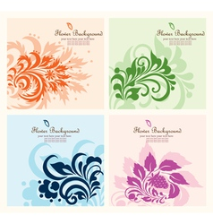 Set flower background vector image vector image