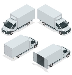 Set of icons truck for transportation cargo Van vector image vector image