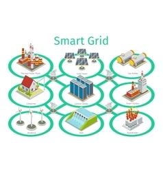 Smart grid diagram vector