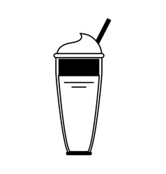 smoothie with straw icon image vector image vector image