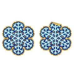 snowflake sticker vector image