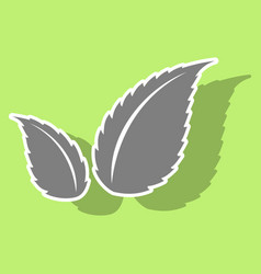 sticker leaves logo template vector image
