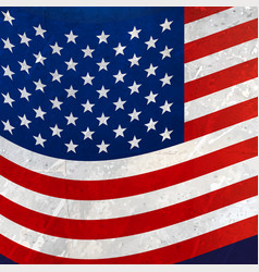 Wavy american flag background vector