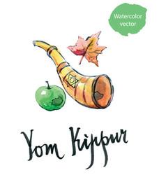 Yom kippur jewish holoday vector