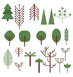 Trees and bushes vector