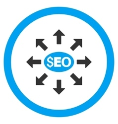 Seo distribution rounded icon vector