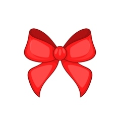 Red bow icon cartoon style vector