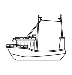 Isolated fishing boat design vector