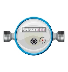 Water meter icon cartoon style vector