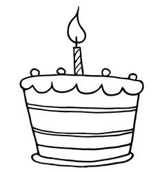 Birthday cake cartoon vector image