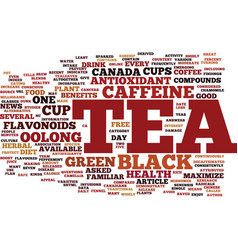 You asked is black tea good for my health text vector