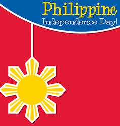 Philippines independence day card in format vector