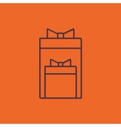 Two presents icon vector