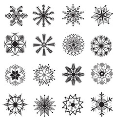Snowflakes icon set vector