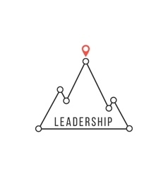 Leadership icon like mountain peak vector