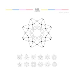 Set of minimal geometric shapes vector