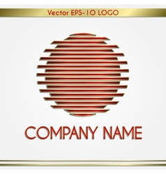 abstract company name red and gold round logo vector image vector image
