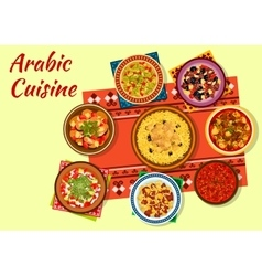Arabic cuisine rich and flavorful dishes icon vector image vector image