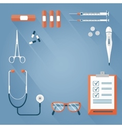 Background medical tools vector image